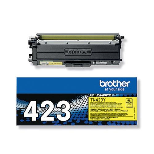 Brother TN423Y Yellow High Yield Toner Cartridge TN423Y