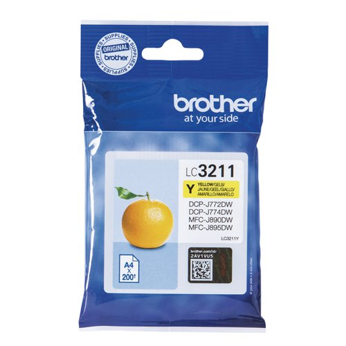 Brother Ink Cartridge Yellow (200 Page Capacity) LC3211Y