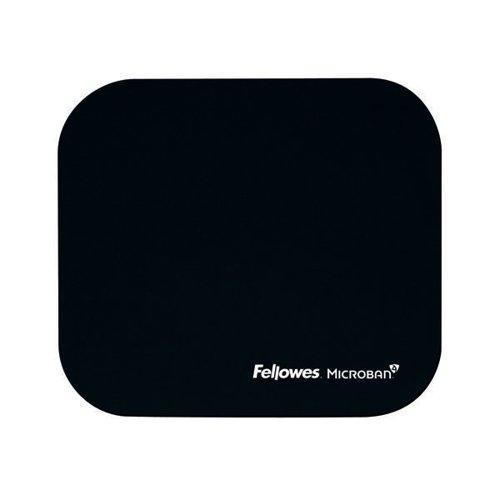 Fellowes Microban Black Mouse Mat