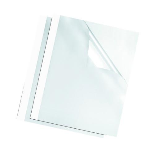 Fellowes Thermal Binding Covers 3mm White (Pack of 100) 53152
