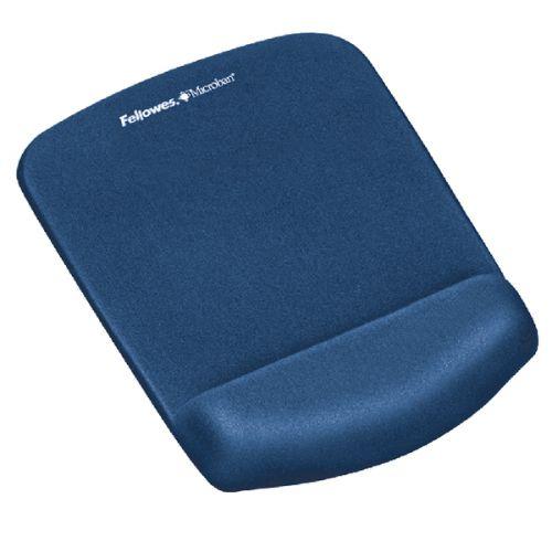 Fellowes PlushTouch Mousepad Wrist Support Blue