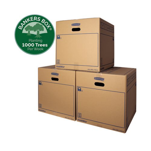 Image for Bankers Box SmoothMove Standard Moving Box 446 x 446 x 446mm (Pack of 10) 6207401
