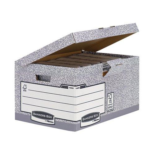 Fellowes Bankers Box System A4/FS Flip Top Storage Box PK10
