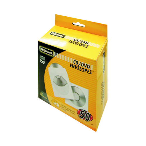 Fellowes CD Envelope Paper Pk50