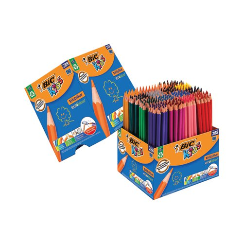 Bic Kids Evolution Eco Colouring Pencils Assorted (Pack of 288) 907901