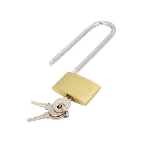 Brass Padlock Long Shackle (Shackle 60mm x 20mm, Body 40mm x 30mm) 041647