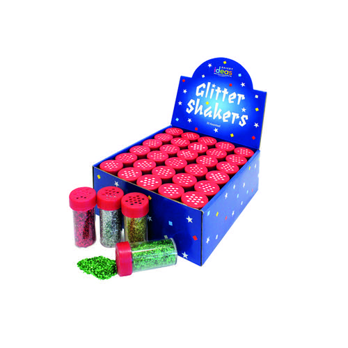 Bright Ideas Assorted Glitter Shakers (Pack of 30) BI0549
