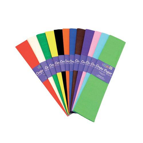 Bright Ideas Crepe Paper Assorted (Pack of 12) BI0568
