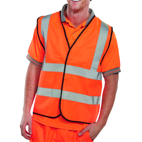 Hi-Viz Vest Orange EN ISO 20471 Medium WCENGORM