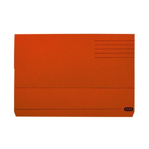Elba Document Wallet Manilla 285gsm FC Orange (Pack of 50) 100090241