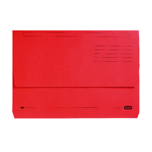 Elba StrongLine Foolscap Document Wallet Red (Pack of 25) 100090136