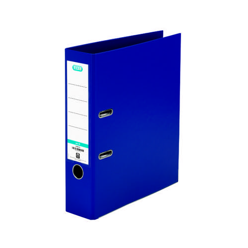 Elba 70mm Lever Arch File Plastic A4 Blue 1450-01