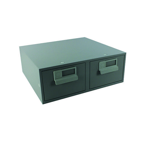 Bisley Card Index Cabinet 152x102mm Double Grey FCB24