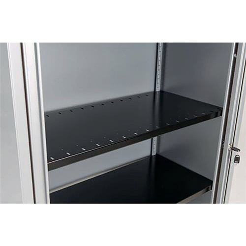 Bisley Black Slotted Shelf BSSGY