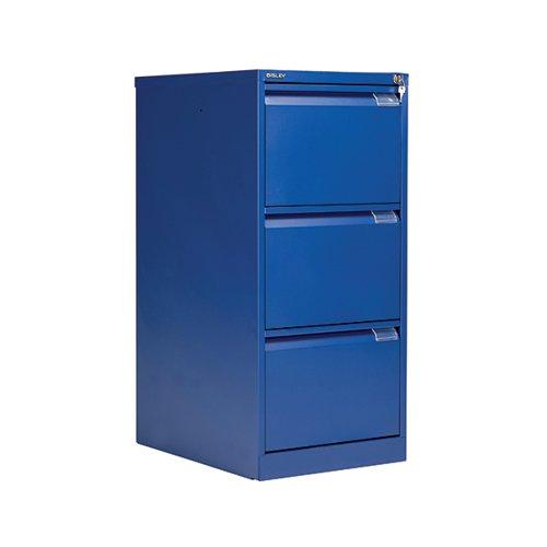 Bisley BS3E Filing Cabinet Flush Front 3D Lock Blue BS3E/BLUE