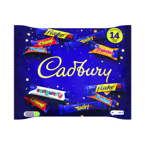 Cadbury Heroes Variety Bag (Chomp, Flake, Fudge, Crunchie, Twirl and Dairy Milk Buttons) A06966
