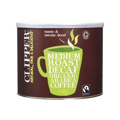 Clipper Organic Decaff Coffee Tin 500g