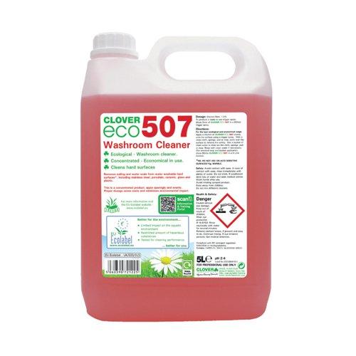 Clover ECO 507 Washroom Cleaner 5 Litre (Pack of 2) 507
