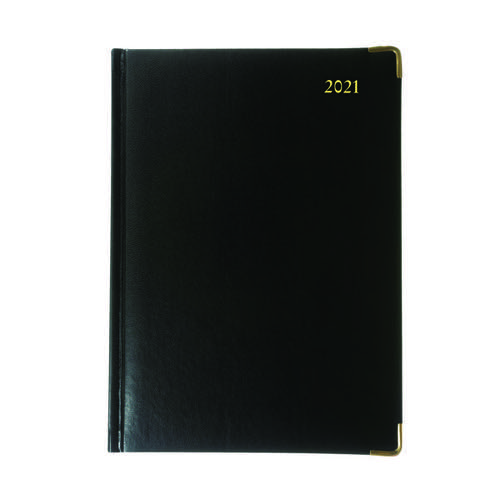 Collins Manager Diary Day Per Page Appointment Black 2022 1200V