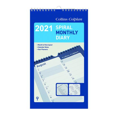 Collins Monthly Spiral Diary 2021 64