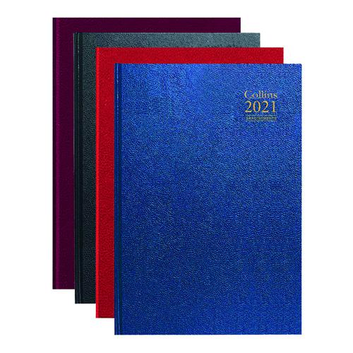 Collins Desk Diary Day Per Page Appointments A4 Assorted 2021 A44