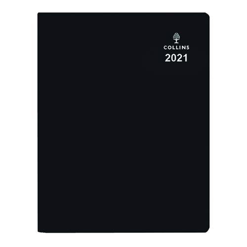 Collins Leadership Diary Day Per Page Appointment A4 Black 2021 CP6743