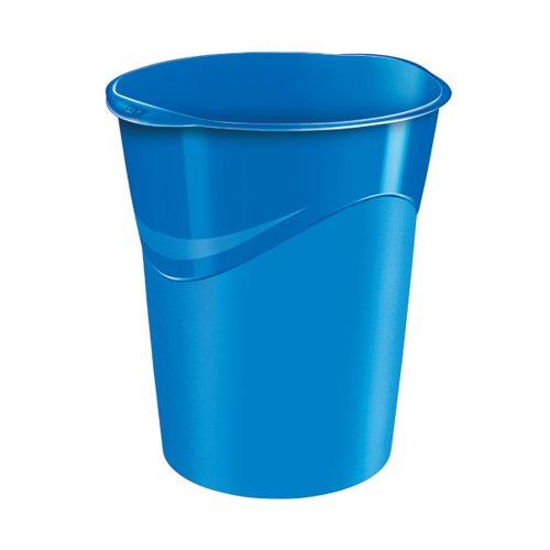 CEP Pro Gloss Waste Bin Blue 280GBLUE