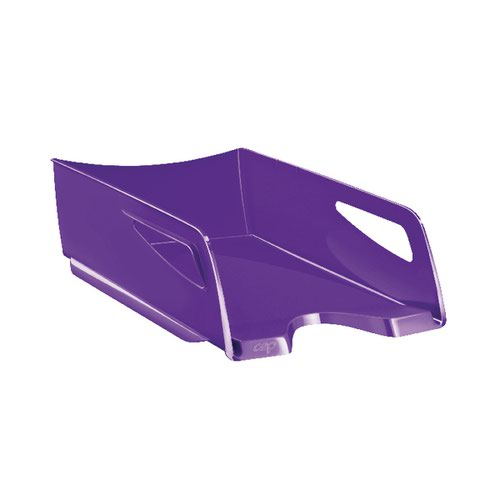 CEP Maxi Gloss Letter Tray Purple CEP00473