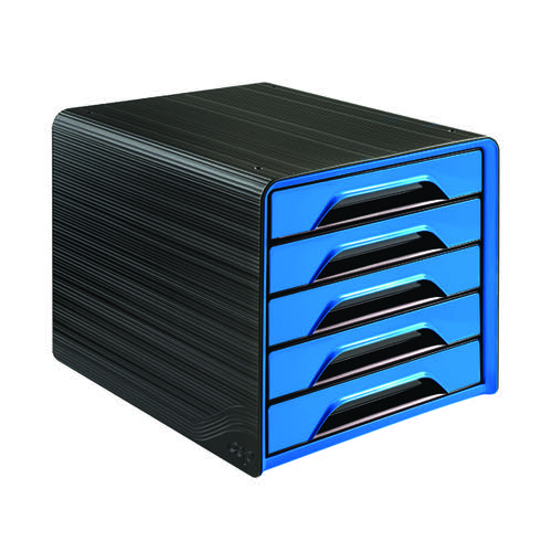 CEP Smoove 5 Drawer Module Black/Blue (Made from 100% recyclable shock resis polystyrene) 1071110351