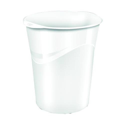 CEP Pro Gloss White Waste Bin 280G WHITE