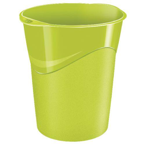 CEP Pro Gloss Green Waste Bin 280GGREEN