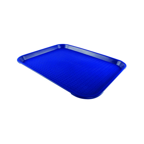 Blue Tea Tray Plain 445x330mm