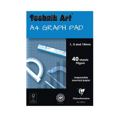 Technik Art A4 Graph Pad 1/5/10mm 40 Leaf XPG1