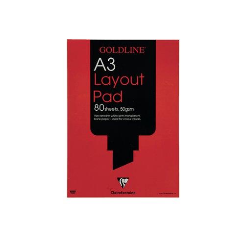 Goldline White A3 Layout Pad GPL1A3