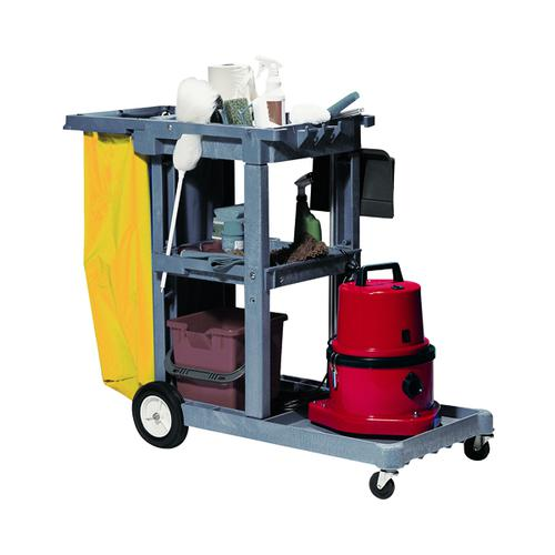 Jolly Trolley Cleaners Cart Grey 101332