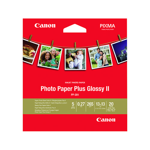 Canon PP-201 Photo Paper Plus 5 x 5in 265gsm (Pack of 20) 2311B060