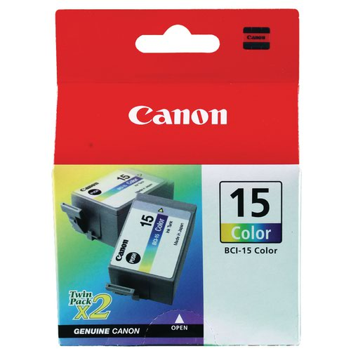 Canon BCI-15C Colour Twin Cartridges