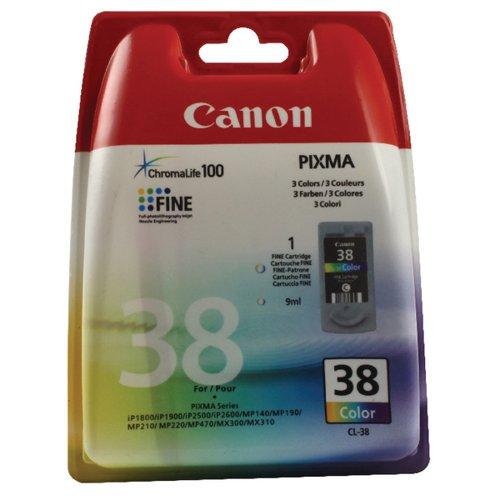 Canon Pixma iP1800/MP220 Inkjet Cartridge Colour CL-38C