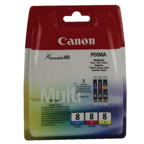 Canon CLI-8 CMY Ink Cartridge Multipack 0621B029