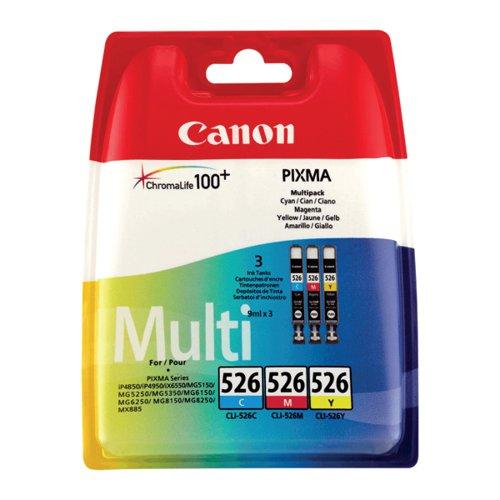 Canon CLI-526 C/M/Y Cartridge Pk3