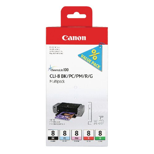 Canon CLI-8 Multi Pack Ink Cartridge 0620B027