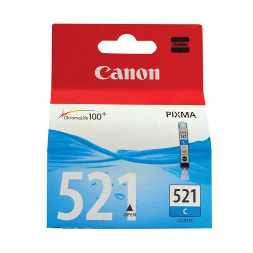 Canon CLI-521C Cyan Inkjet Cartridge 2934B001