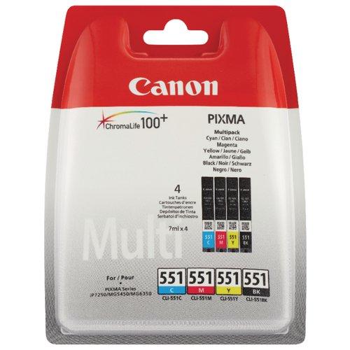 Canon CLI-551 Ink Cartridge Pck C/M/Y/BK