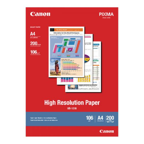 Canon A4 High Resolution Inkjet Paper 106gsm (Pack of 200) 1033A001