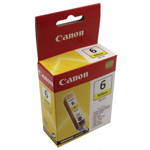 Canon BCI-6Y Yellow Inkjet Cartridge 4709A002