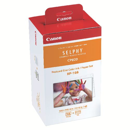 Canon 8568B001 RP108 Postcard Paper and Ink Multipack