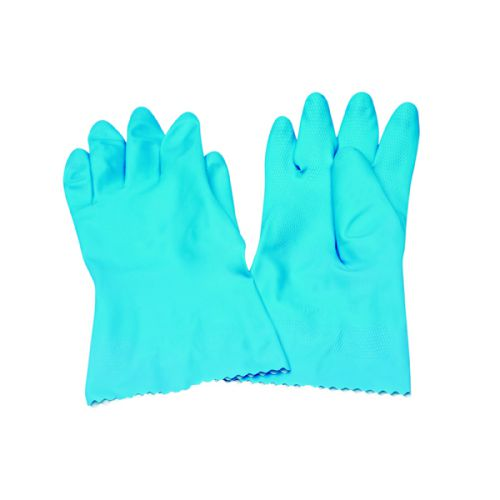 Rubber Gloves Medium Blue (Pack of 6) KBMRY067