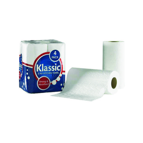 Klassic White Kitchen Roll Pk24