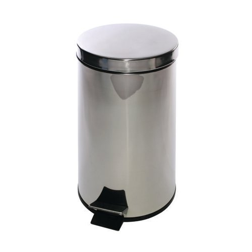 Stainless Pedal Bin 12 Ltr Silver