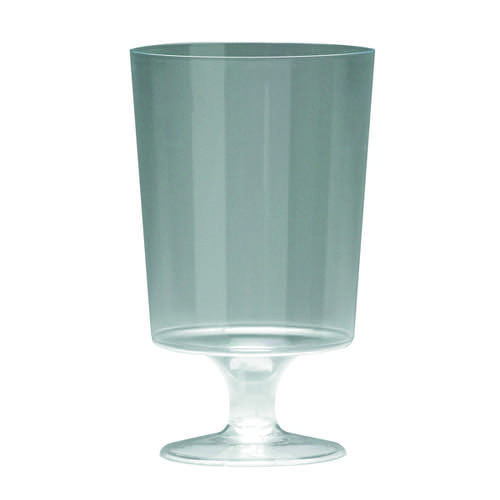 Plastic Stem Wine Glasses Clear 200ml (Pack of 10) 510032